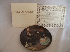 """""""The Storyteller"""" Plate by Norman Rockwell"""