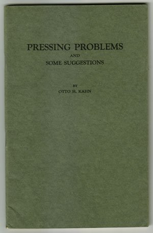Pressing Problems and Some Suggestions
