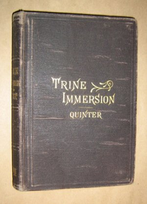 A Vindication of Trine Immersion as the Apostolic Form of Christian Baptism