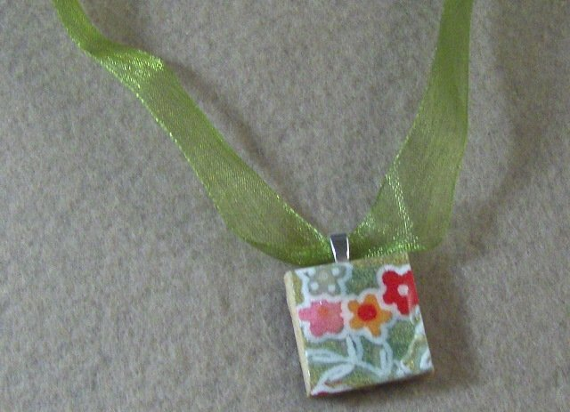 Chiyogami pendant