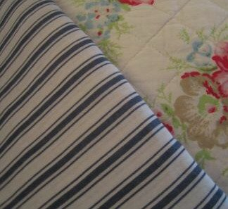 Ikea Alvine Rand Blue White Ticking Stripes Duvet Cover