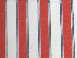 IKEA EKTORP Sofa Bed Sofabed SLIPCOVER Cover SLITE RED WHITE Stripes