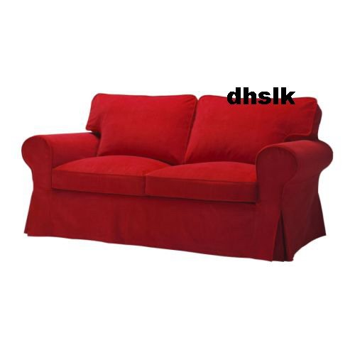 Ikea Ektorp Sofa Bed Cover Leaby Red Bettsofa Bezug
