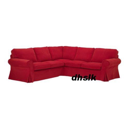 Ikea EKTORP 2+2 Corner Sofa COVER LEABY RED Bezug