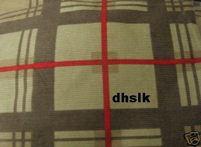 "New IKEA ARDEN RUTA Green PLAID Corduroy CURTAINS 118"""