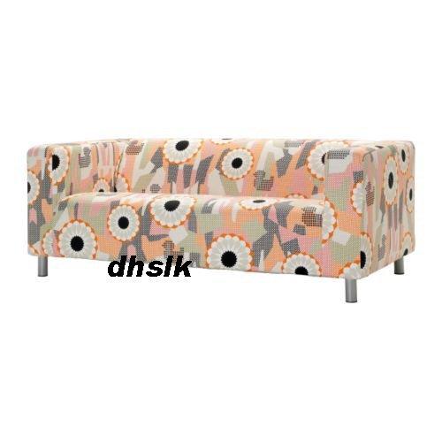 IKEA KLIPPAN Loveseat Sofa SLIPCOVER Cover ANKARSVIK Mod RETRO Orange