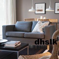 New IKEA KARLANDA Sofa Bed SLIPCOVER Cover SKANUM GRAY Grey