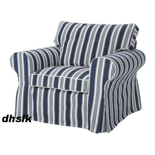 New IKEA EKTORP Armchair SLIPCOVER Cover TOFTAHOLM Blue ...