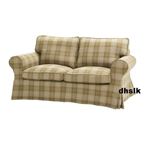 ikea ektorp 2 seat sofa slipcover loveseat cover rutvik beige. Black Bedroom Furniture Sets. Home Design Ideas
