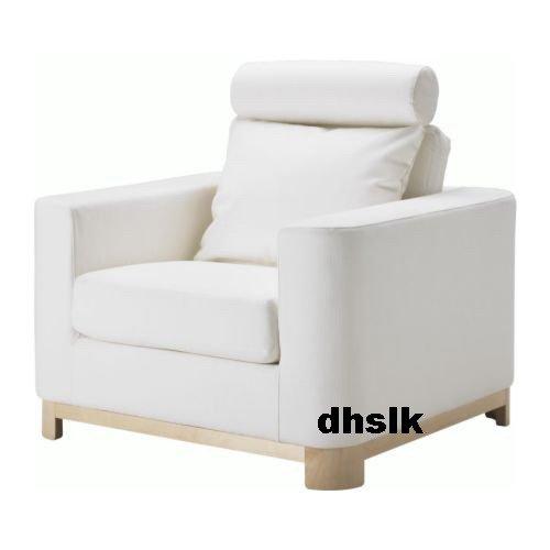 IKEA S�LEN Salen ARMCHAIR Chair SLIPCOVER Cover SAGANAS WHITE Bezug