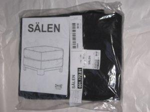 IKEA S�LEN Salen OTTOMAN Footstool SLIPCOVER Cover FLISBY DARK GRAY Grey