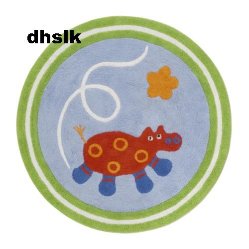 Ikea Barnslig Area Throw Rug Play Mat Blue Animal Bath Kids