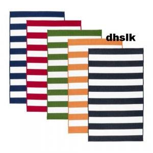 Ikea Sveje Red White Stripes Area Throw Rug Mat Cotton