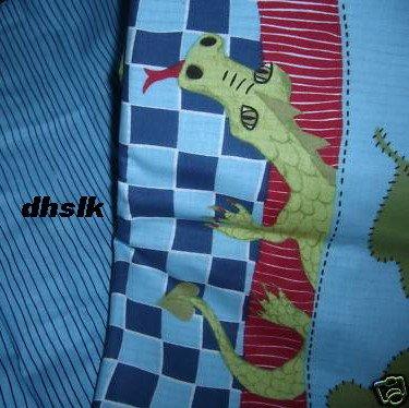 Ikea MINNEN DRAKE Dragon Castle TWIN DUVET COVER Set PRINCE Blue Knight Fairy Tale