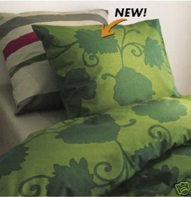 IKEA TANJA Green Leaf TWIN Single Duvet COVER Set ZEN