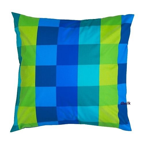 IKEA Brunkrissla MODERN ART Euro Pillow Case Sham BLUE Mondrian
