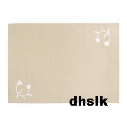 IKEA DRAGBY WOOL Blend RUG Area Carpet Mat EMBROIDERED