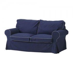 IKEA EKTORP Loveseat SLIPCOVER 2 Seat Sofa Cover IDEMO DARK BLUE