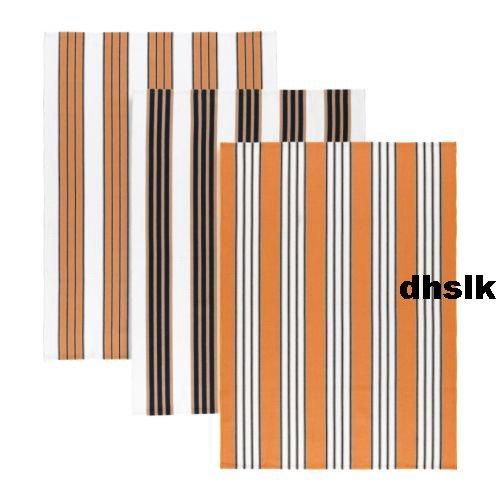 IKEA JYLLINGE Orange Black STRIPES Area Throw RUG MAT