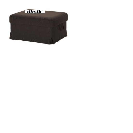 IKEA Ektorp BROMMA Footstool SLIPCOVER Cover KORNDAL DARK BROWN