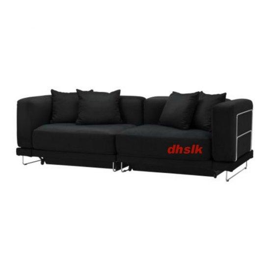 IKEA TYLOSAND Sofa Bed COVER Everod BLACK TYL�SAND Slipcover EVER�D
