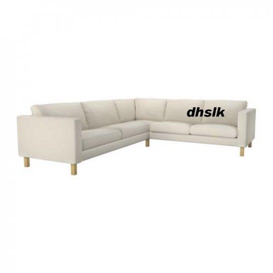 Ikea KARLSTAD Corner Sofa SLIPCOVER Cover LINNERYD NATURAL Beige 2+3 / 3+2