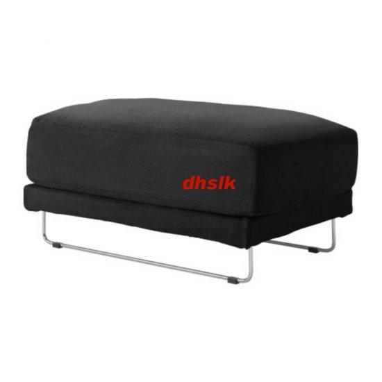 IKEA TYLOSAND Footstool Stool COVER EVEROD BLACK TYL�SAND Slipcover