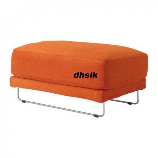 IKEA TYLOSAND Footstool Stool COVER EVEROD ORANGE TYL�SAND Slipcover