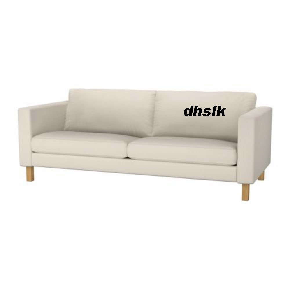 Ikea Karlstad 3 Seat Sofa Slipcover Cover Linneryd Natural Beige