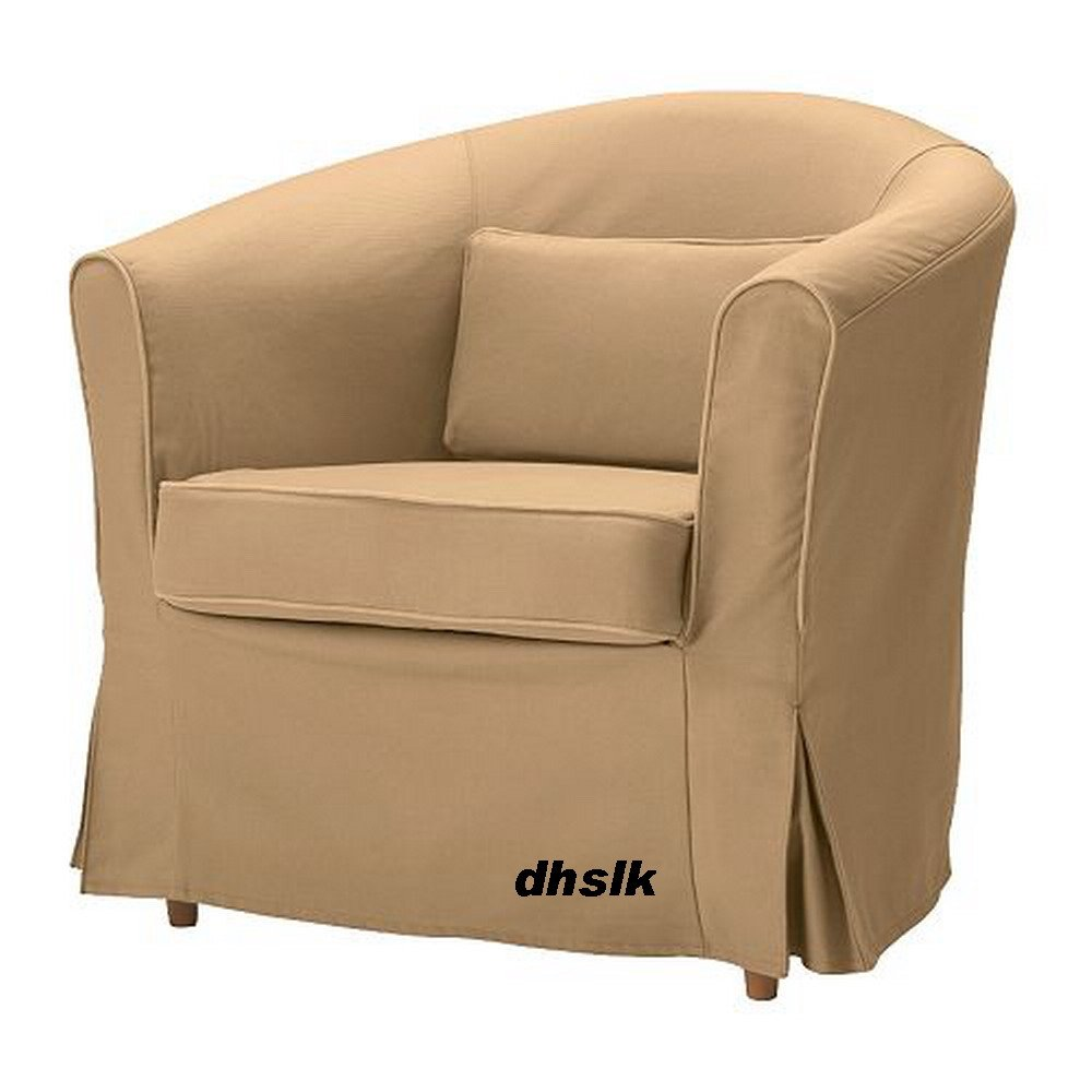 ikea ektorp tullsta armchair slipcover chair cover idemo beige tan. Black Bedroom Furniture Sets. Home Design Ideas
