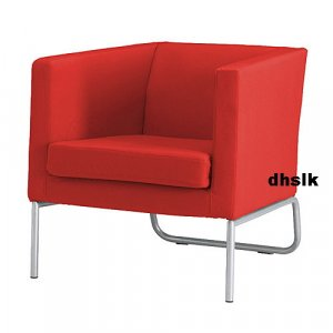 Beste IKEA KLAPPSTA Chair SLIPCOVER Cover ALME RED Modern Eames QT-89