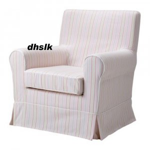 IKEA Ektorp JENNYLUND Armchair SLIPCOVER Cover KAREBY PINK Candy Stripes