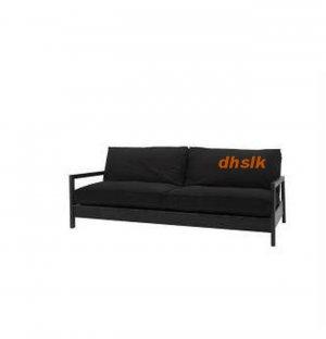 IKEA LILLBERG Sofa Bed Sofabed SLIPCOVER Cover GRÄSBO BLACK Grasbo