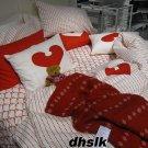 IKEA SNOA RANDER Snoä RED Throw BLANKET Afghan SOFT Xmas Vinter