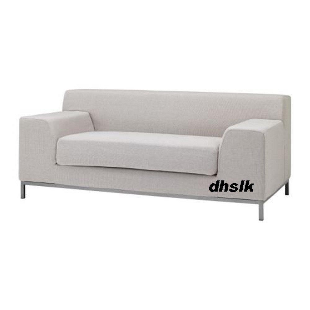 Ikea Kramfors 2 Seat Sofa Slipcover Cover Risede Blue Gray