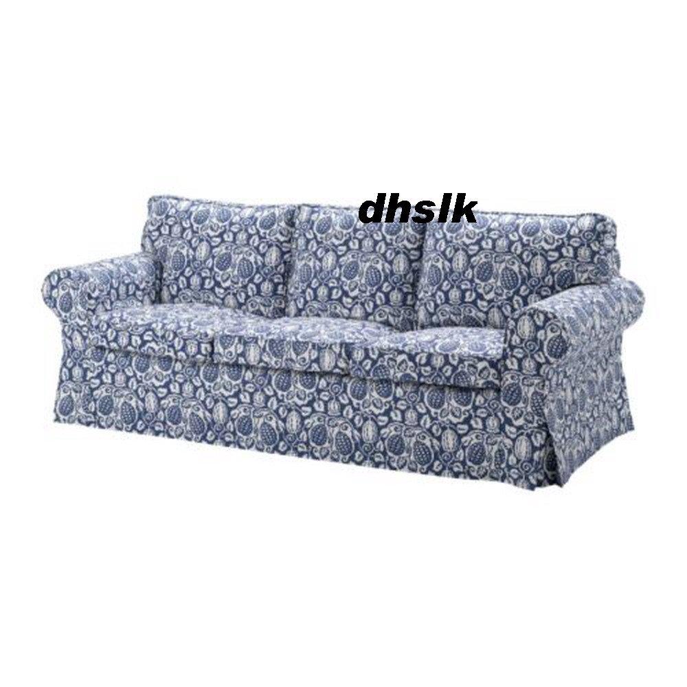 ikea ektorp 3 seat sofa cover klintbo blue slipcover floral bezug. Black Bedroom Furniture Sets. Home Design Ideas