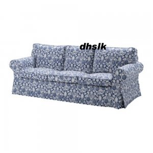 ikea ektorp 3 seat sofa cover klintbo blue slipcover floral bezug. Black Bedroom Furniture Sets. Home Design Ideas