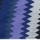 IKEA GILDA STRALE ZigZag Throw BLANKET Afghan SOFT Purple