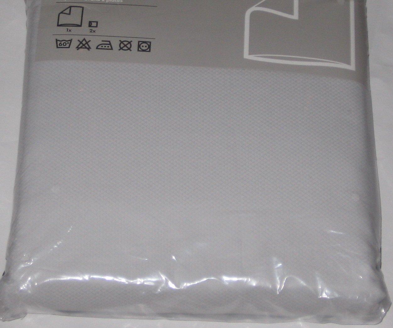 IKEA CEDER Soft GRAY KING Duvet COVER Set DIAMOND Weave GREY Kazuyo Nomura