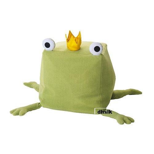 IKEA  KELIG FROG Prince GREEN Cushion COVER Fairy Tale Princess