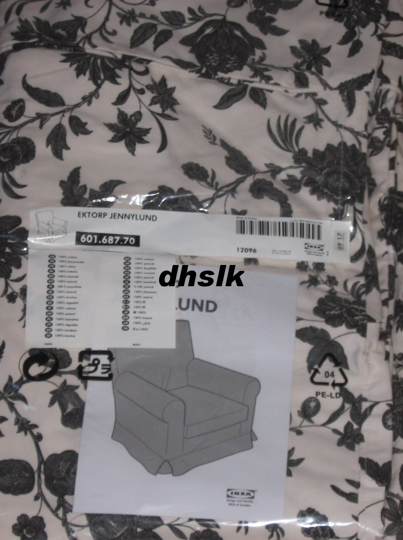 IKEA Ektorp JENNYLUND Armchair SLIPCOVER Cover HOVBY BLACK ...
