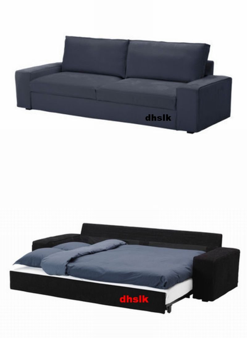 ikea kivik sofa bed slipcover cover ingebo blue bezug housse. Black Bedroom Furniture Sets. Home Design Ideas