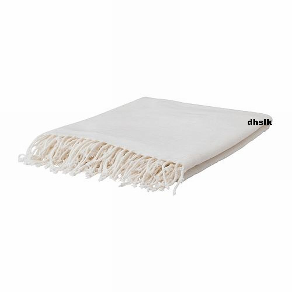 ikea felicia white off white cream throw blanket afghan soft xmas. Black Bedroom Furniture Sets. Home Design Ideas