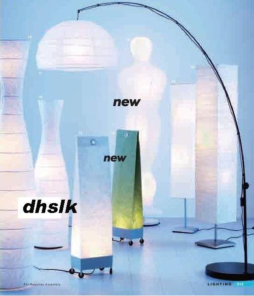 Ikea Marek Floor Wall Lamp Light Green Paper Bag Modern Design