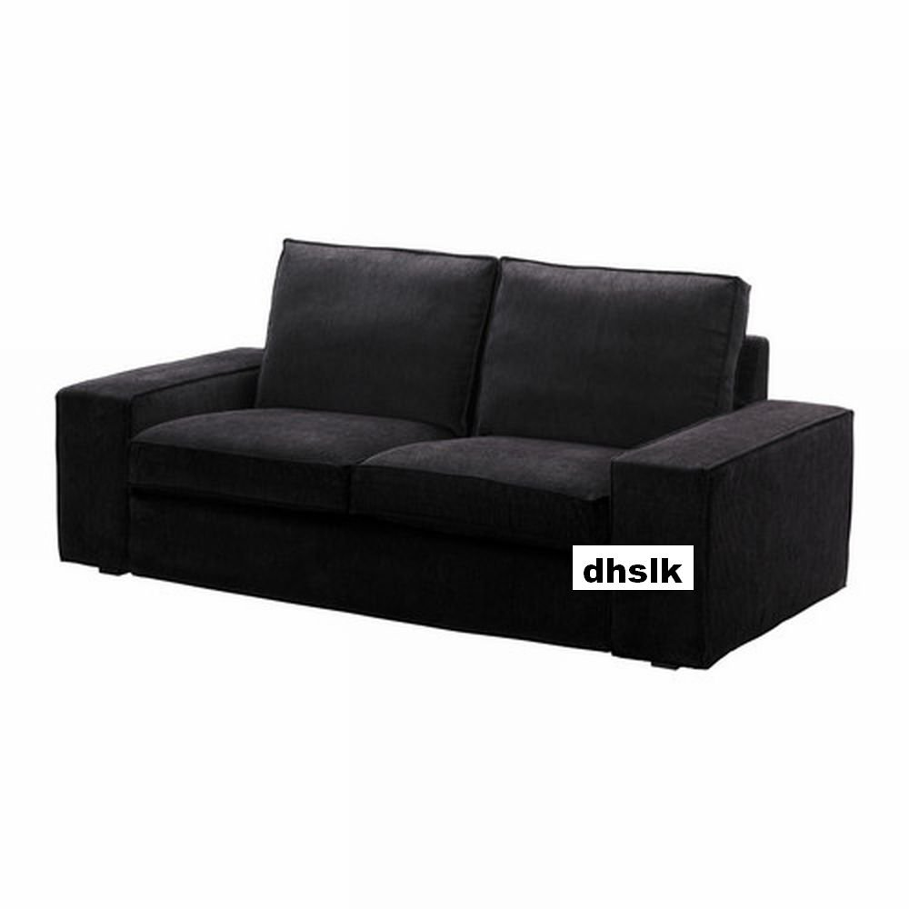 ikea kivik 2 seat sofa slipcover loveseat cover tranas black tran s bezug housse. Black Bedroom Furniture Sets. Home Design Ideas