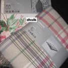 IKEA HERMINE Throw BLANKET Afghan PINK Beige Green Plaid EMMIE Soft