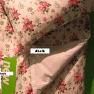 IKEA EMMIE SÖT Sot QUEEN Full Double Duvet COVER Pillowcases Set PINK Floral Striped