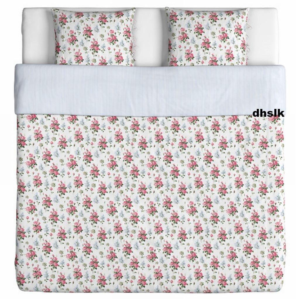 Ikea Emmie S 214 T Sot King Duvet Cover Pillowcases Set Pink