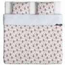 IKEA EMMIE SÖT Sot KING Duvet COVER Pillowcases Set PINK Floral Striped LAST ONE
