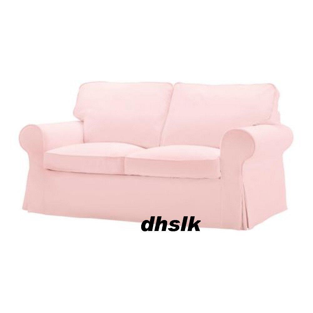 Ikea Ektorp 2 Seat Sofa Slipcover Loveseat Cover Blekinge Pale Pink